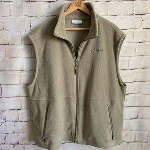 Columbia Vest, Zipper, Pockets, Fleece, 2X